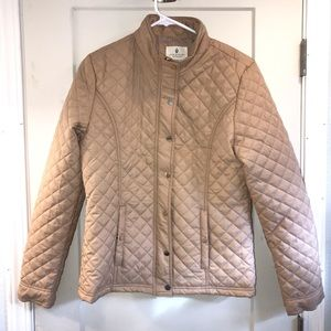 Jade and Ivory quilted tan jacket size Medium